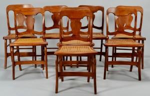 Lot 546: 8 TN Empire Side Chairs attrib. Jacob Fisher