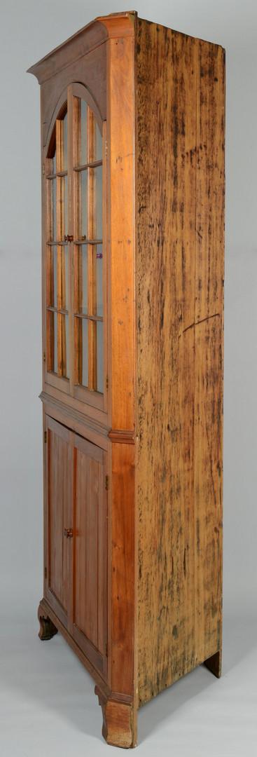 Lot 547: East TN Arched Door Corner Cupboard