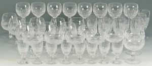 """Lot 552: 40 Waterford Crystal """"Colleen"""" Pattern Glasses"""