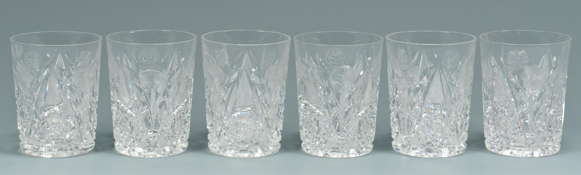 Lot 554: 11 Cut Glass items inc. Bridgeton Rose