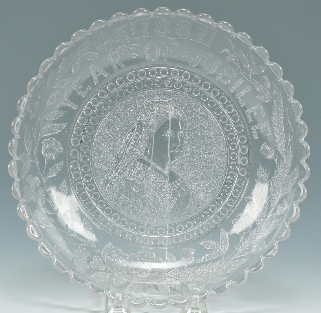 Lot 555: English Queen Victoria Glass