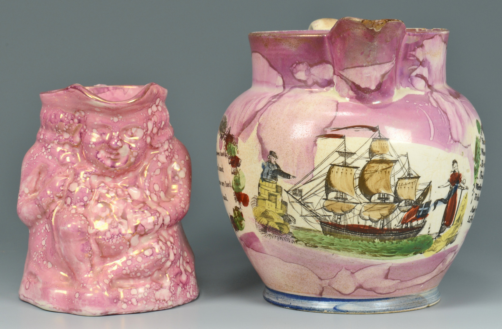 Lot 556: Sunderland Lustre Toby and Pitcher