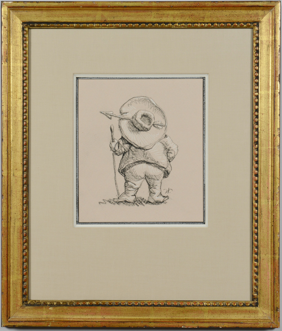Lot 56: Werner Wildner gnome drawing