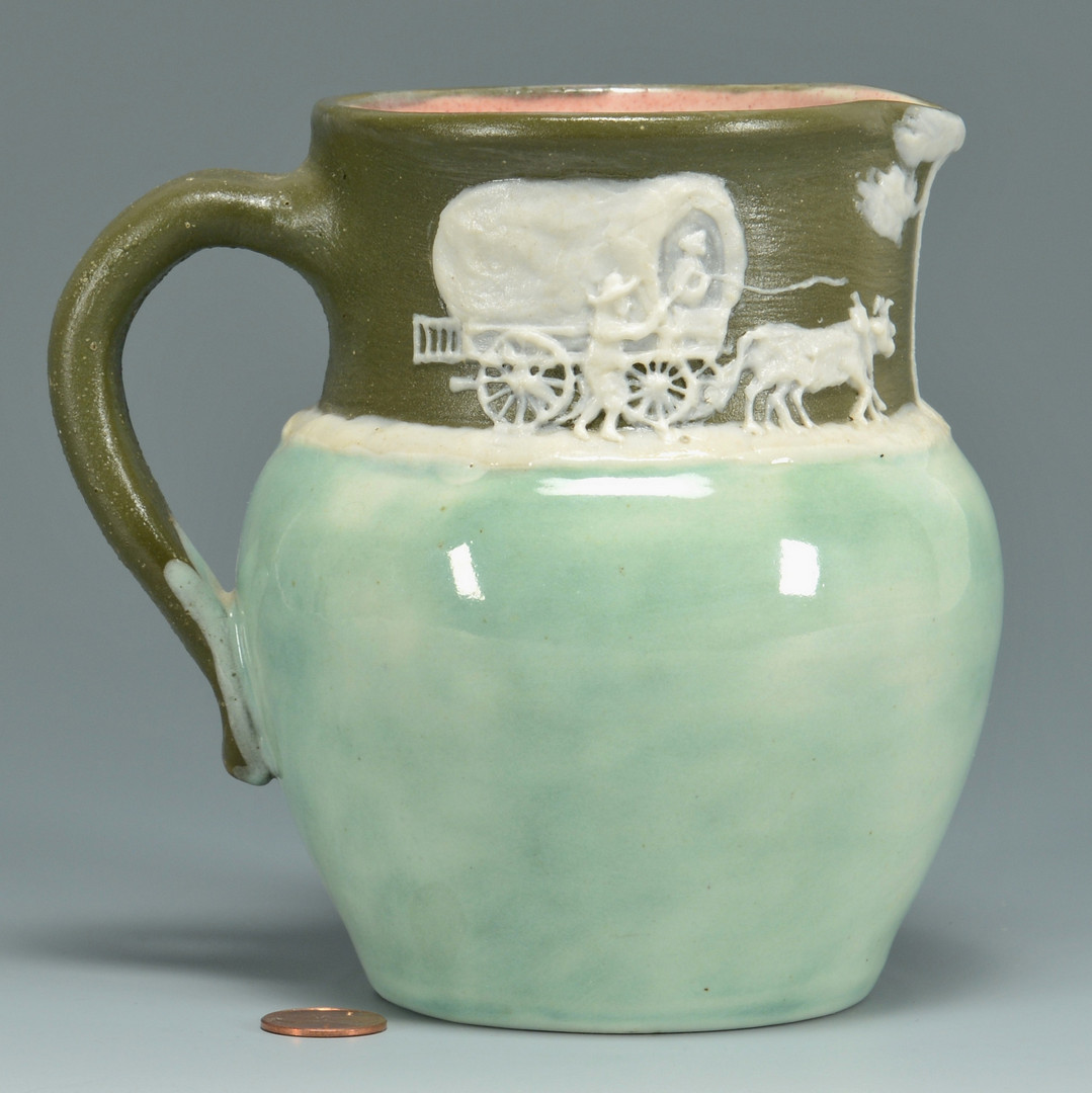 Lot 571: Pisgah Forest Pottery Cameo Pitcher