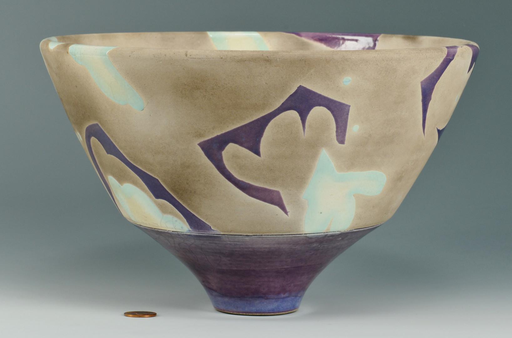 Lot 573: Michael Sherrill NC Pottery Bowl