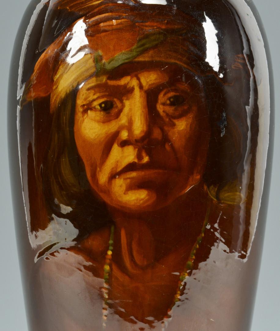 Lot 577: Weller Pottery Indian Vase