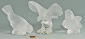 Lot 579: 3 Lalique Crystal Birds