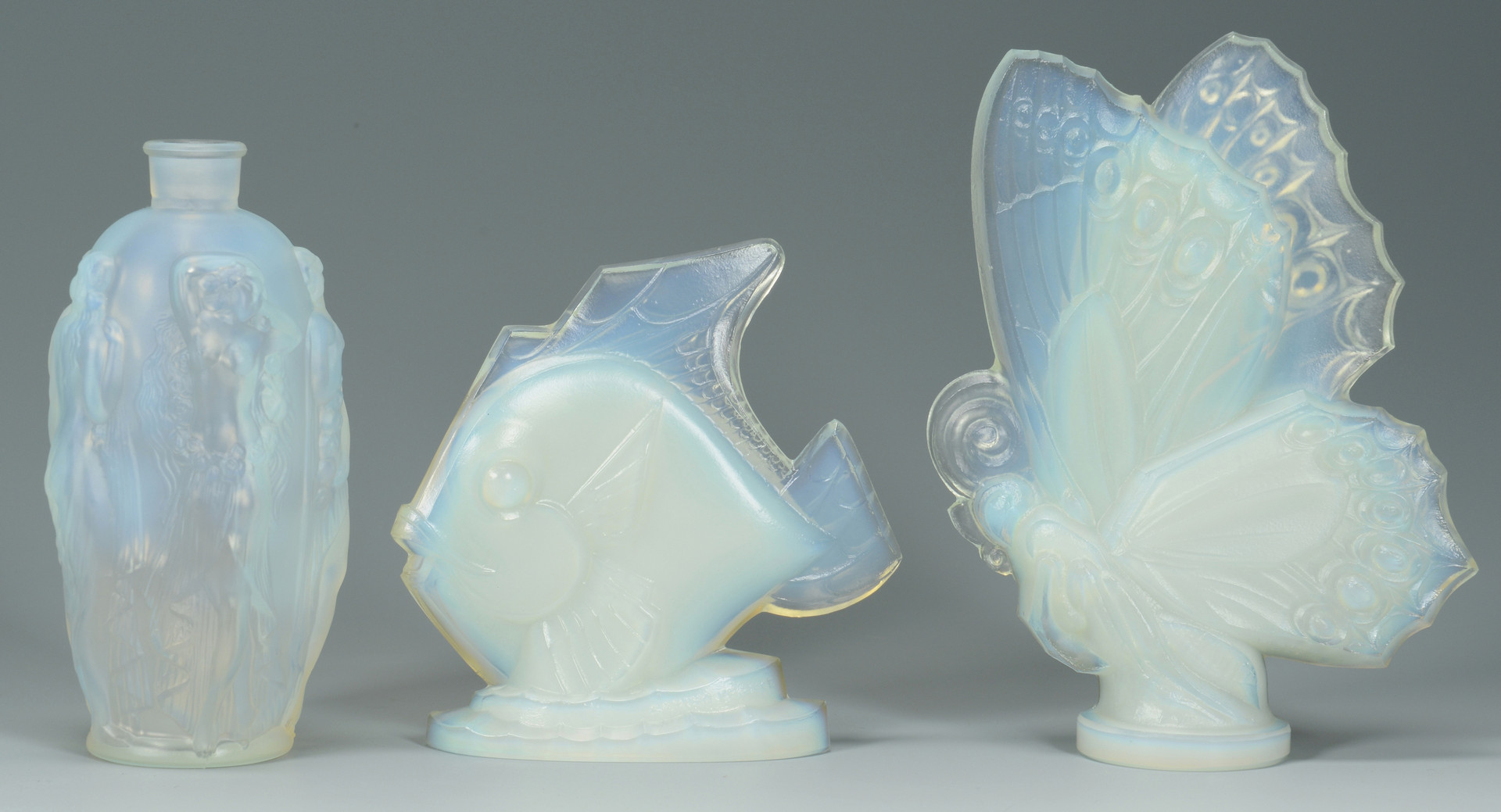 Lot 581: Sabino, Lalique and Steuben Glass, 5 pcs