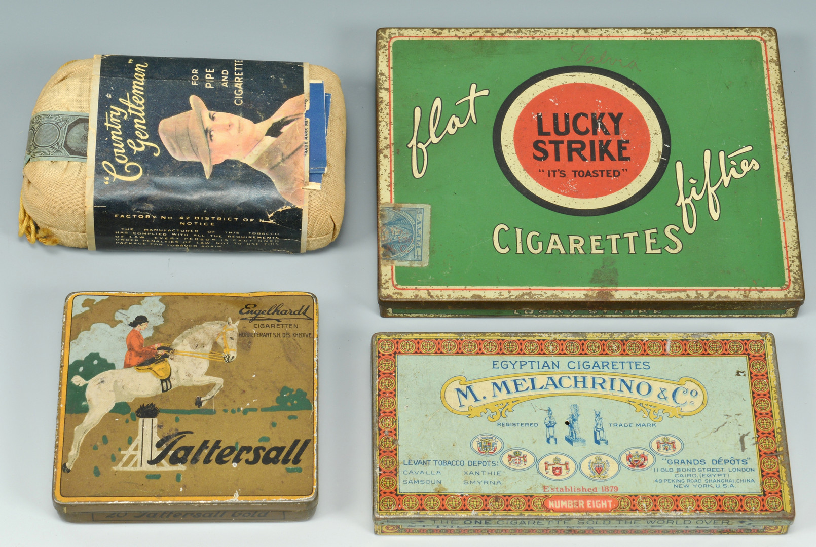 Lot 596: Smoking Tins and Tobacco
