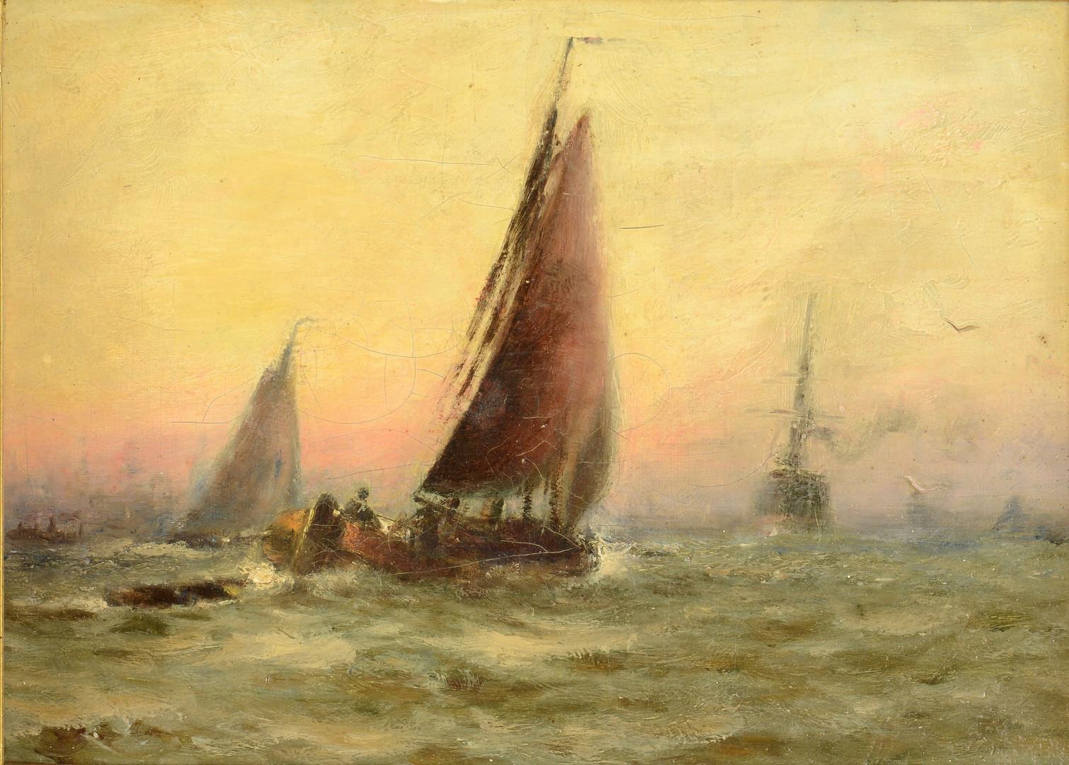 Lot 59: Joe Duncan Gleason, pair Marine paintings