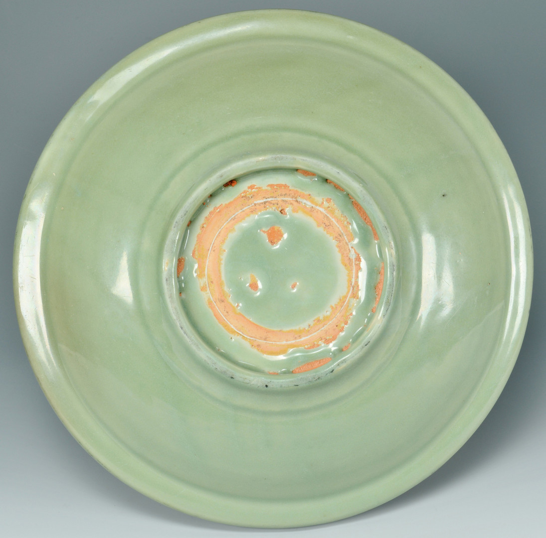 Lot 5: Chinese Ming Dynasty Celadon Charger