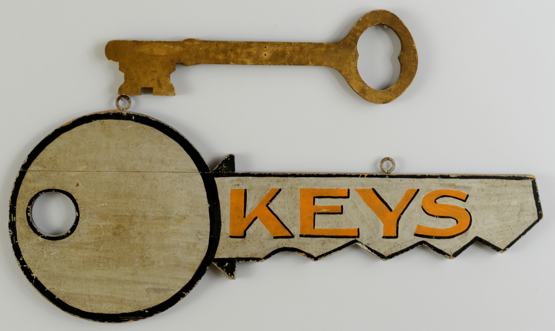 Lot 602: 6 Painted Wooden Key Signs