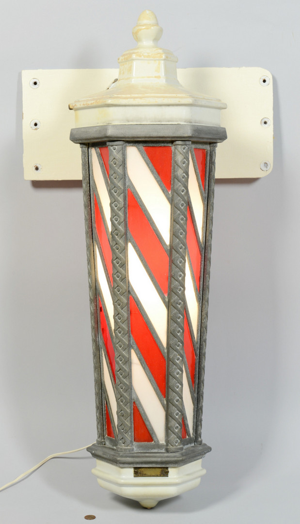 Lot 603: Koken Lighted Barber Pole