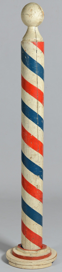 Lot 604: 19th c. Painted Barber's Pole