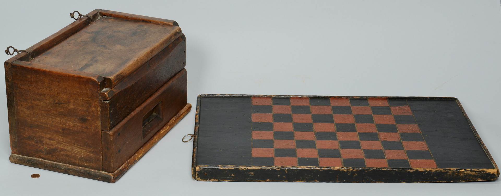 Lot 606: Six 19 Century Folk Art items