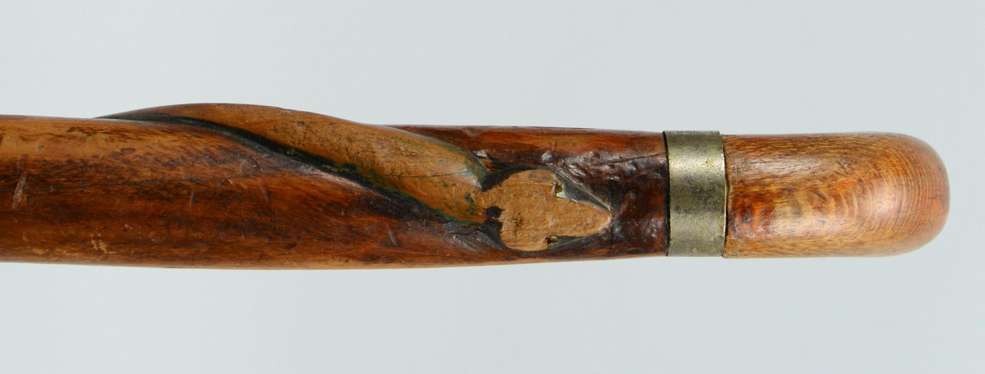 Lot 607: 4 Carved Snake Canes