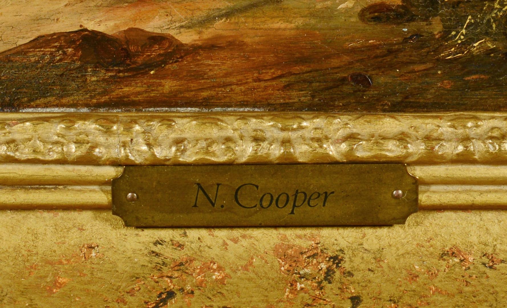 Lot 60: N. Cooper o/b Seascape, 19th c.