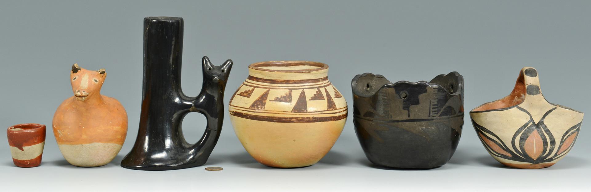 Lot 614: Southwestern Indian Pottery, 6 items