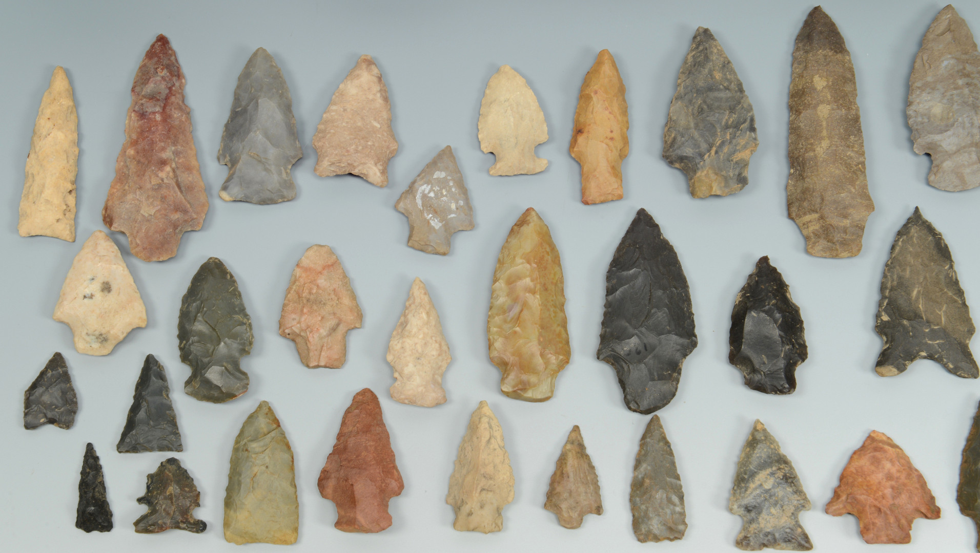 Lot 616: Native American axes, celts, points