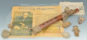 Lot 618: Pre Columbian Flute, Whistle & Figurals