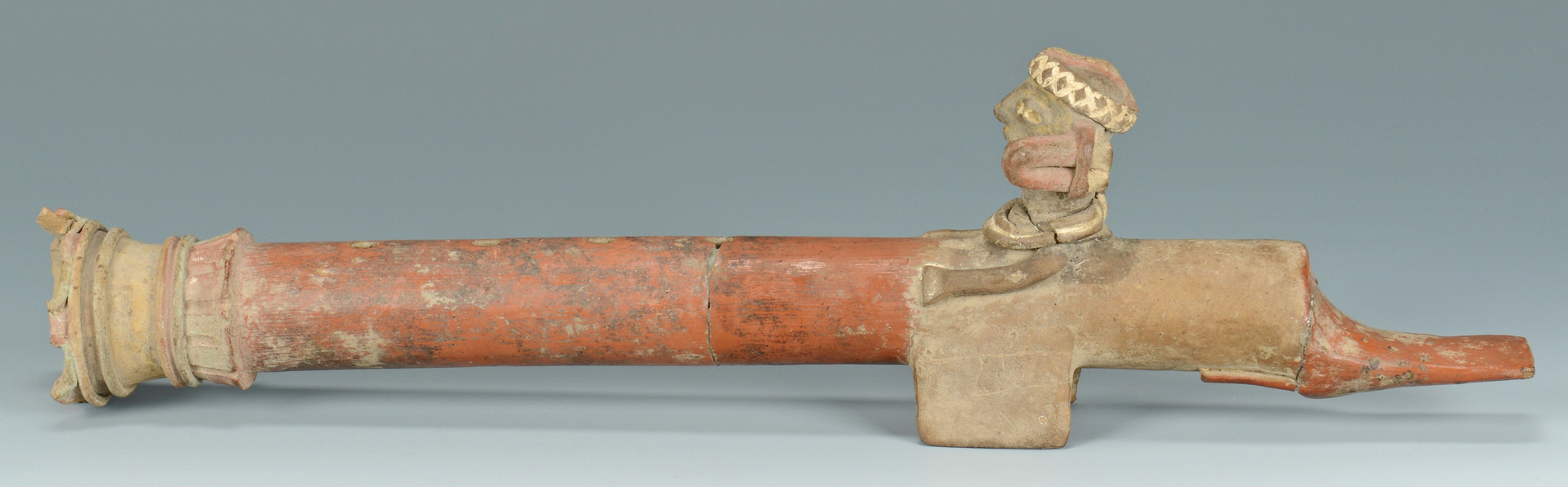 Lot 618: Pre Columbian Flute, Whistle & Figurals