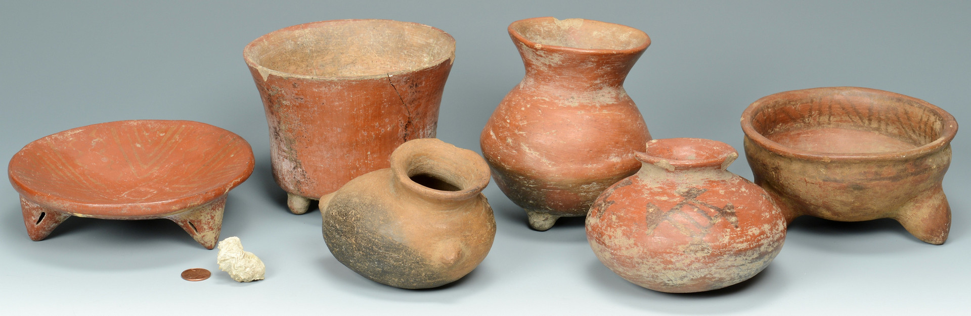 Lot 619: Group of 6 Pre Columbian vessels