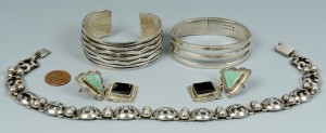 Lot 627: Signed Mexico, Navajo Jewelry, 4 items