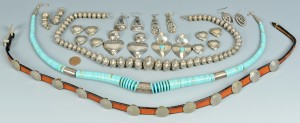Lot 628: Southwest Jewelry inc Hat band, 9 items