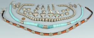 Lot 628: Southwest Jewelry inc Hat band, 9 items