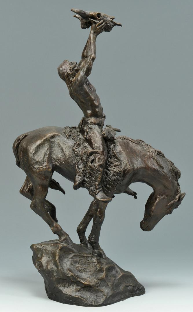 Lot 632: 2 Buck McCain Bronze Sculptures