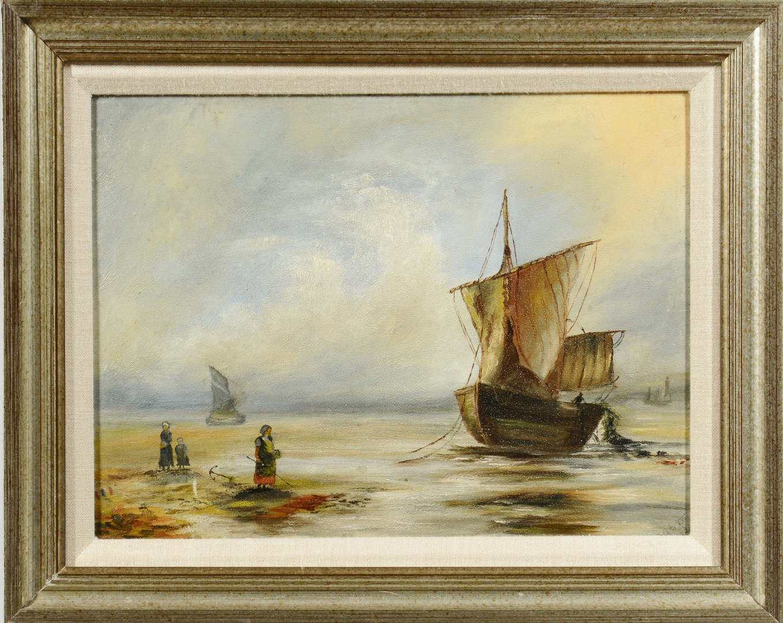 Lot 639: Two 19th c. Coastal Landscapes