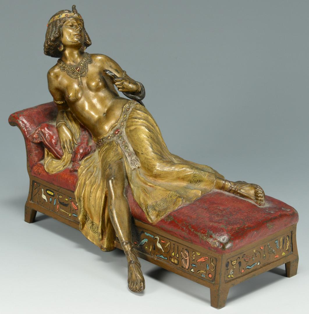 Lot 63 franz bergmann sacrifice of cleopatra for Chaise cleopatra