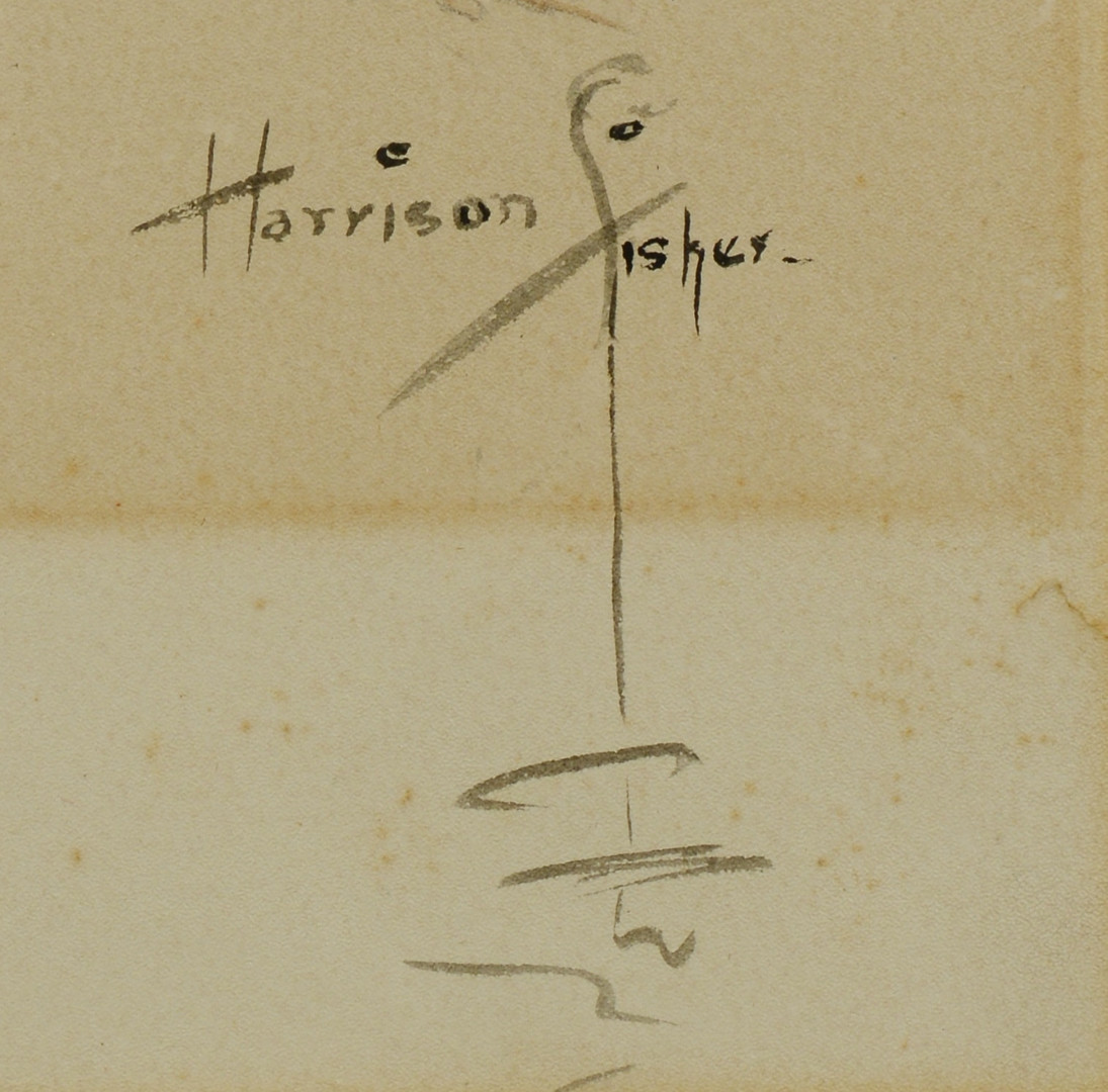 Lot 641: Harrison Fisher, W/C illustration