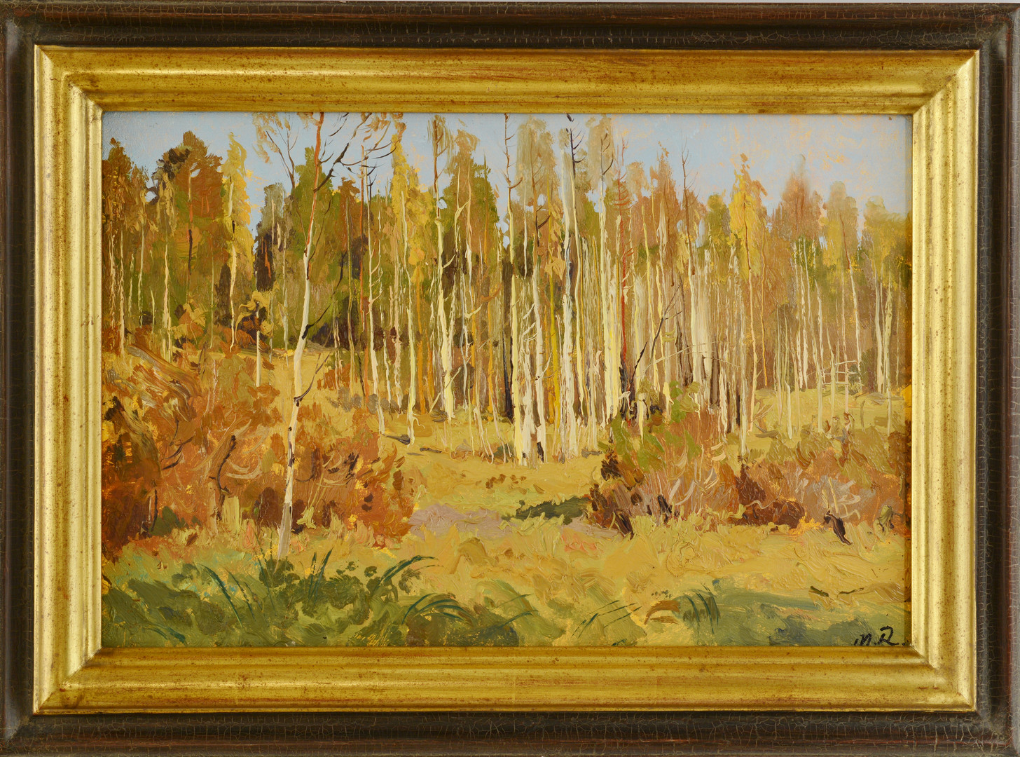 Lot 645: Oil on Board Fall Landscape