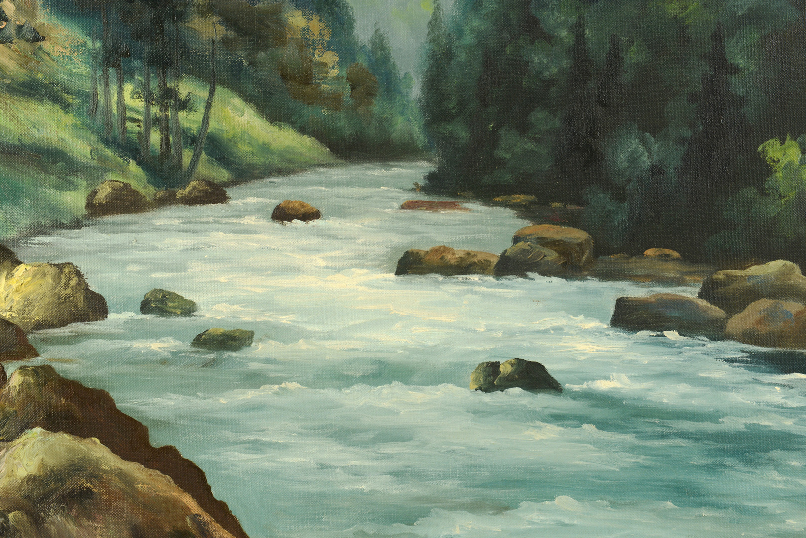 Lot 646: Lorenz Griffith Oil of Mtn Stream