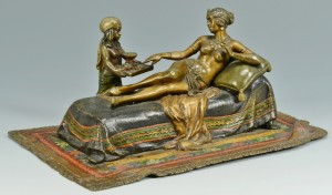Lot 64: Cold Painted Bronze Cleopatra