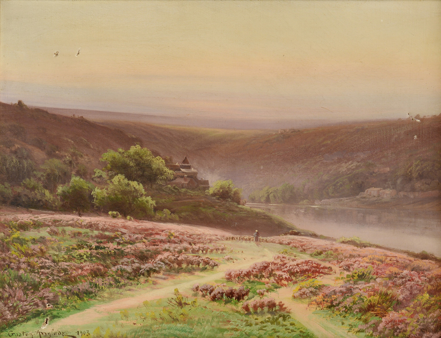 Lot 651: Gaston Anglade o/c Landscape