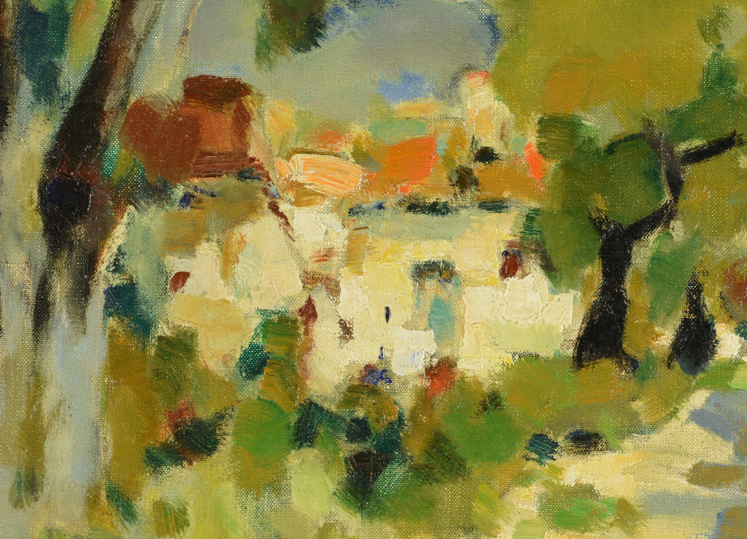 Lot 652: Alfred Chagniot o/c landscape