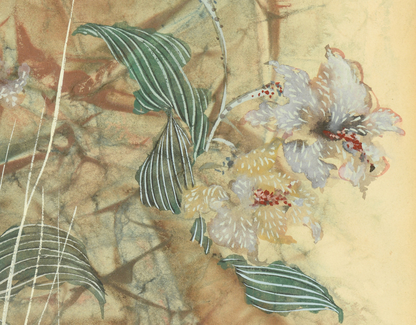 Lot 655: Pang Tseng Ying floral watercolor