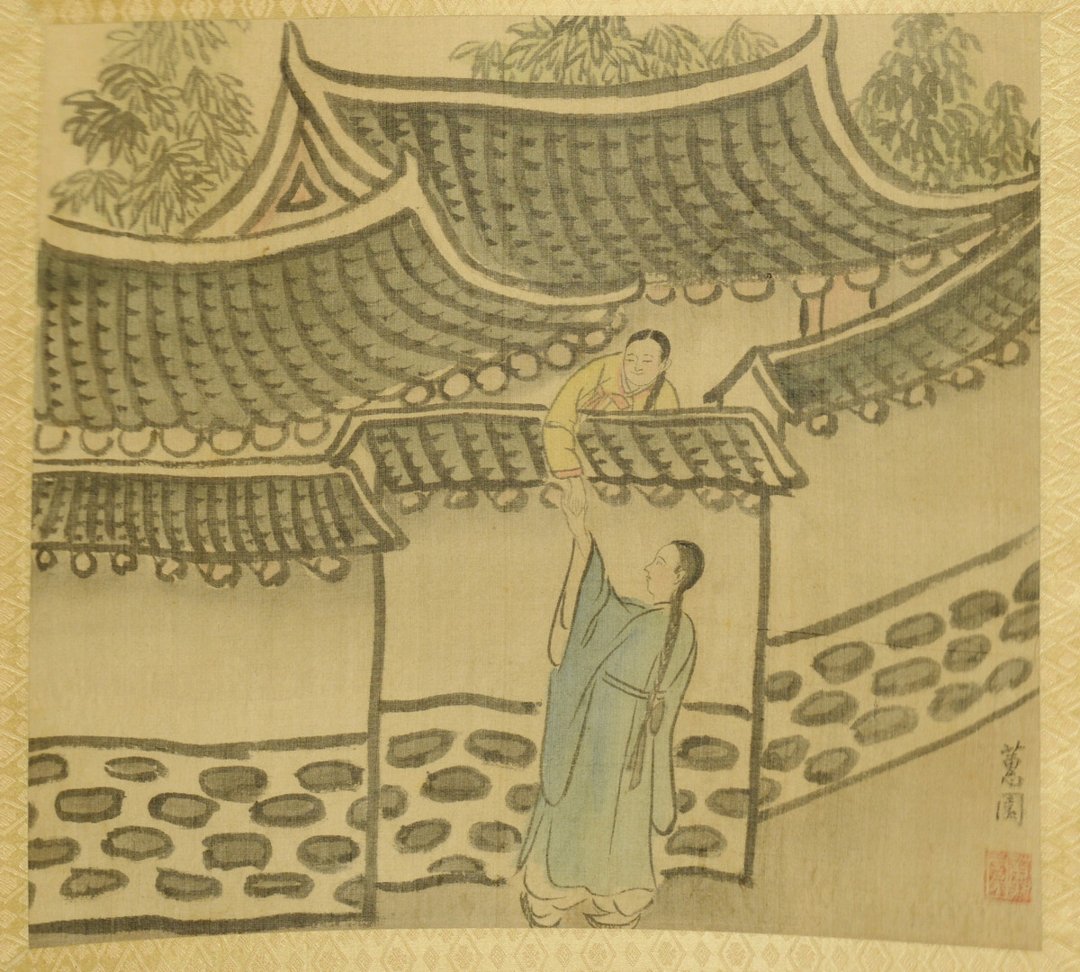 Lot 659: 12 Asian Paintings on Silk, Possibly Korean