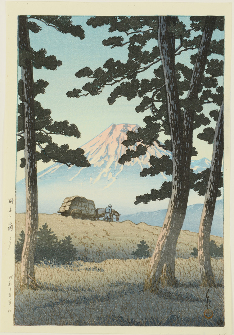 Lot 662: 8 woodblock prints, unframed