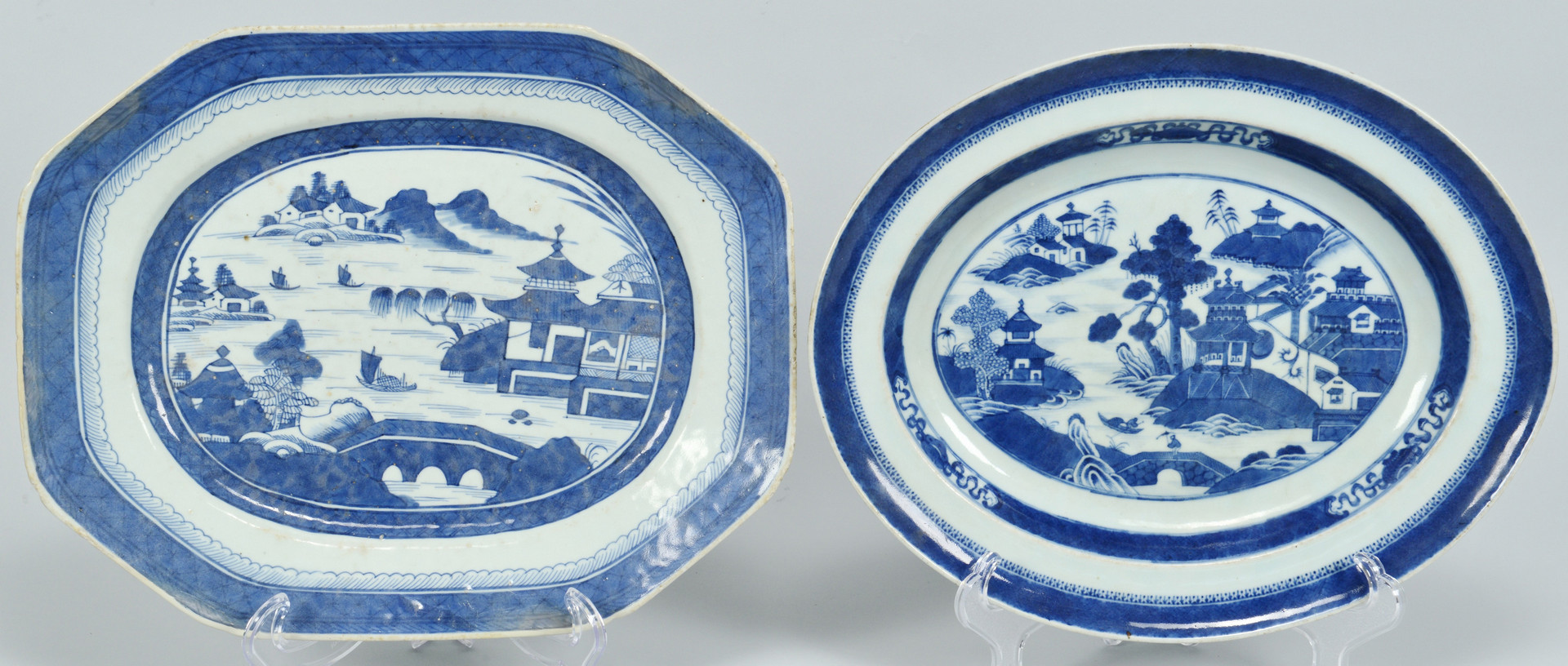 Lot 664: Chinese Blue/White Canton, 10 pcs.
