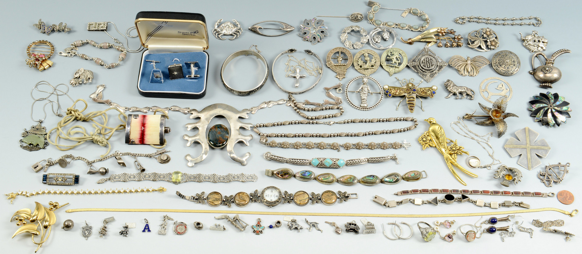 Lot 680: Large Group of Sterling Jewelry