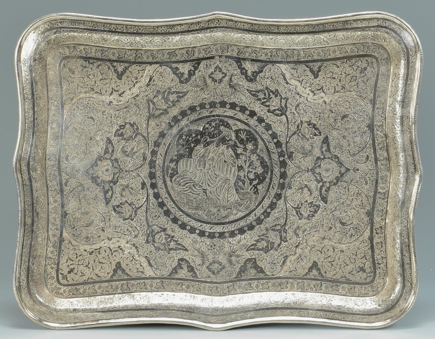 Lot 684: .900 Silver Iranian Tray