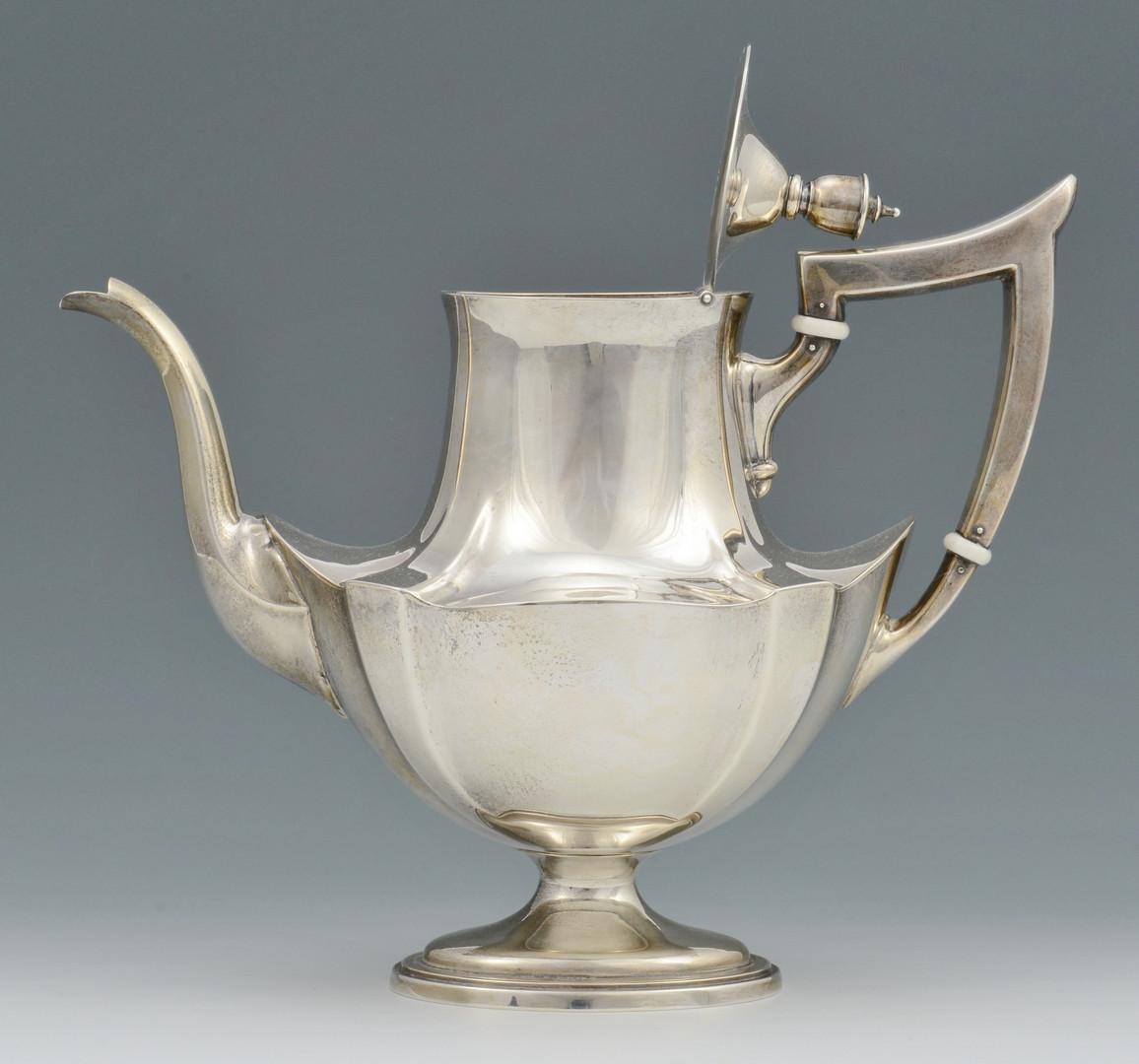Lot 685: 4 pc. Gorham Tea Service, Plymouth Pattern