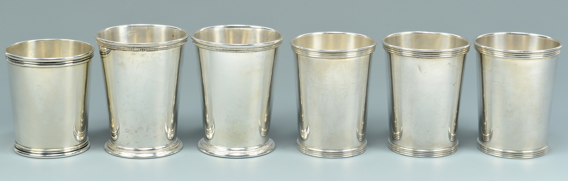 Lot 687: 6 Sterling Silver Julep Cups