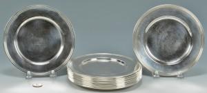 Lot 689: 14 Sterling Silver Bread Plates