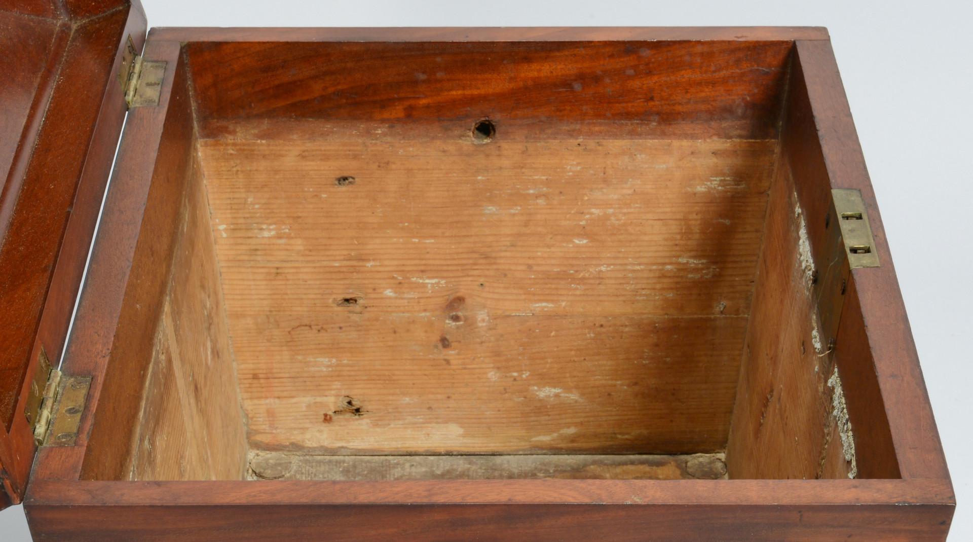 Lot 68: English Sarcophagus Cellarette