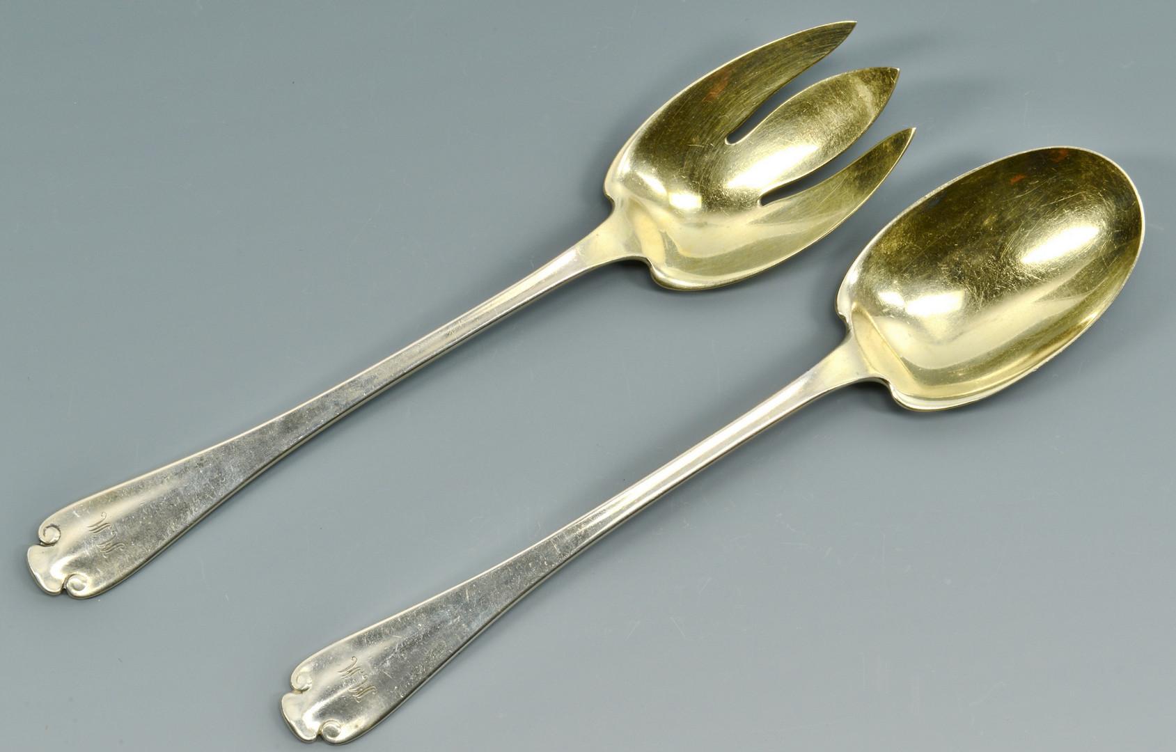 Lot 691: Silver Flatware incl Tiffany serving