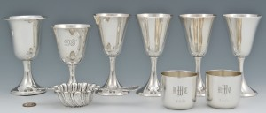 Lot 692: 9 Sterling Beverage Items